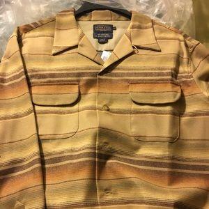 Brown on Tan wool Pendleton boardshirt